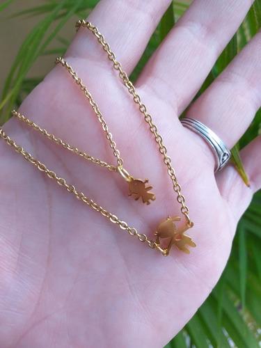 dije acero familia inicial letras collar cuero cadena venez