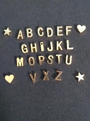 dije acero inicial mini dijes collar cuero cadena letras