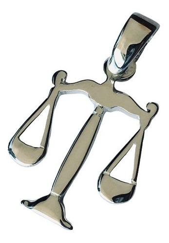 dije balanza justicia abogada con cadena plata 925 (h9)
