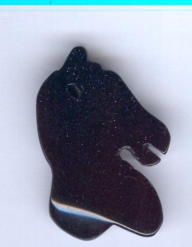 dije caballo en venturina azul
