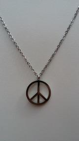 15ef7b6ce4d7 Dije Cadena Simbolo Amor Y Paz De Acero Inoxidable Hippie