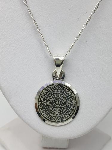 dije calendario azteca plata ley .925 incluye cadena mod03
