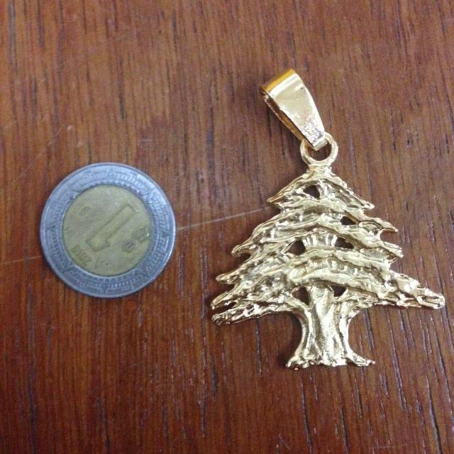 Dije cedro de libano en ba o de oro de 24 k en - Bano de oro precio ...