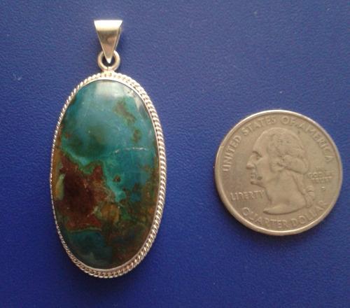 dije - colgante de plata y piedra opalo andino