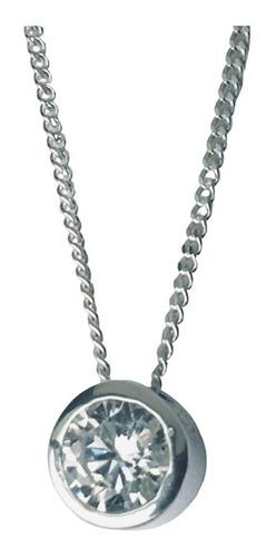 dije con cadena plata 925 susanita piedra 6 mm (br03)