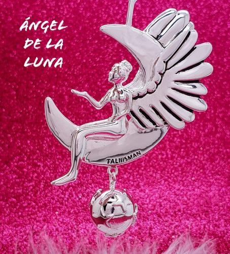 dije con llamador de angeles ángel de la luna
