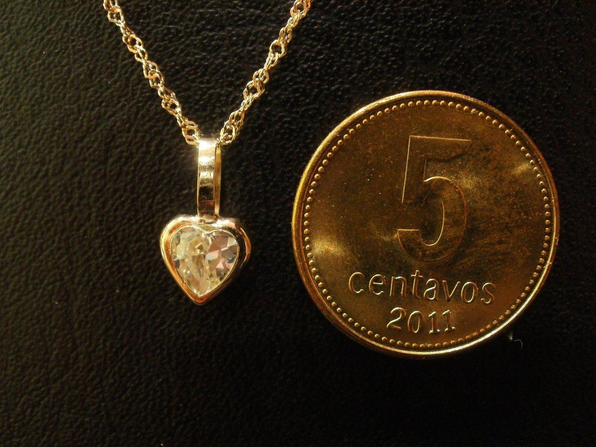 298a7a021439 dije corazón cúbic oro 18 kilates y cadena 40 cm. Cargando zoom.