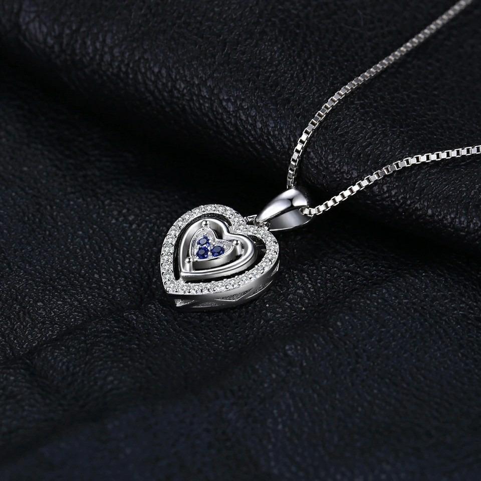 collar de plata casual lo ultimo en moda dije en forma de corazón 925