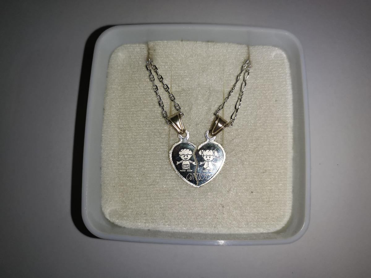 a12e1f25ab30 dije corazon partido con cadenas amor plata ley .925 pl0272. Cargando zoom.