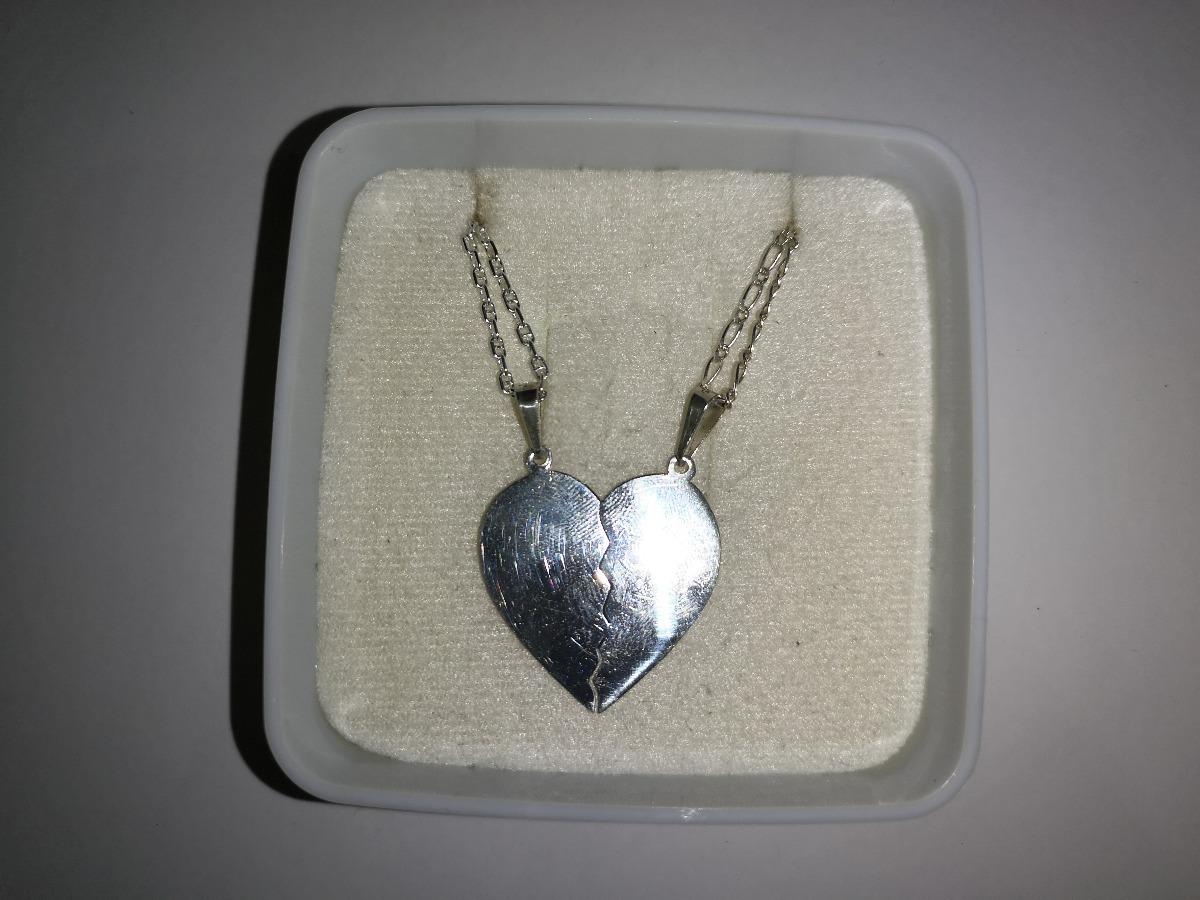 540463f681ef dije corazon partido con cadenas en plata ley .925 pl0270. Cargando zoom.