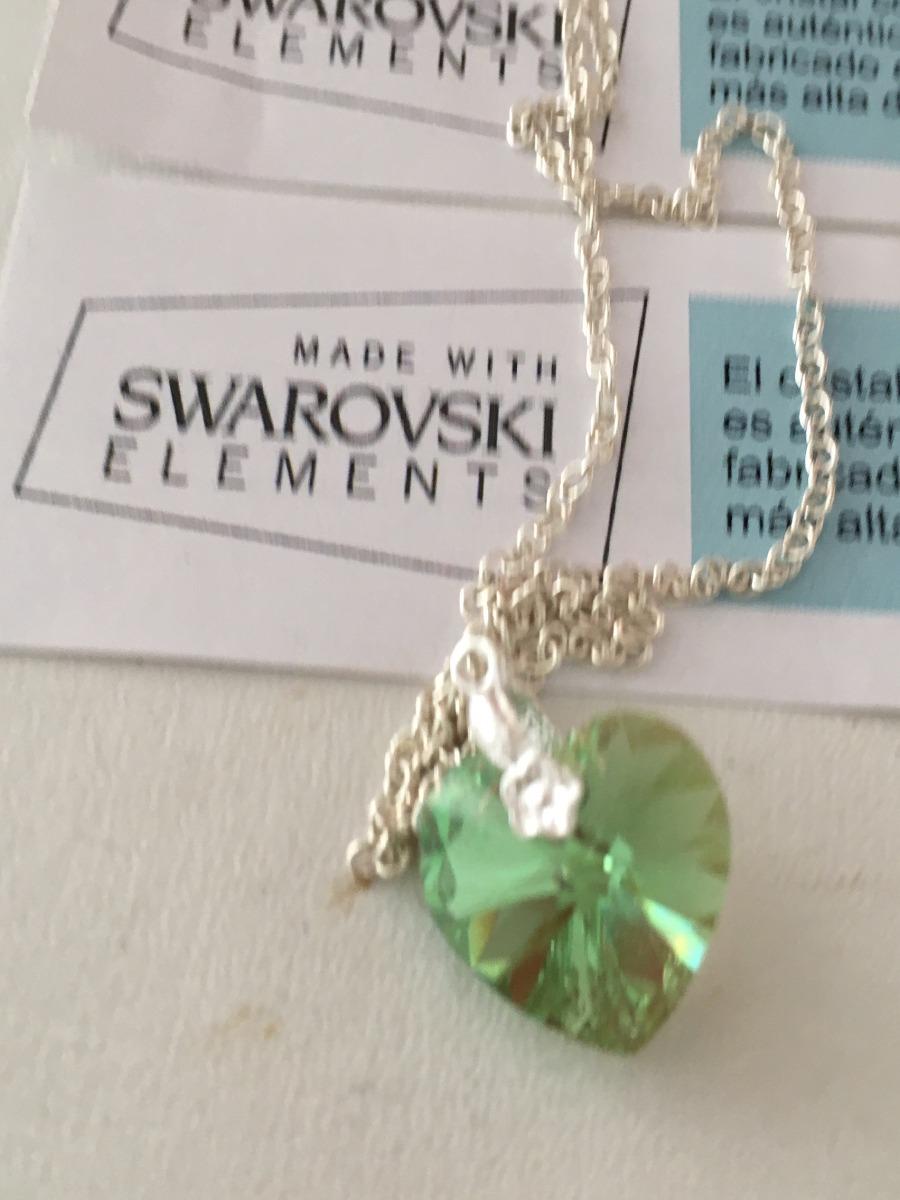 856da7113ae274 dije corazon swarovski 14 mm cadena plata 925 cristal. Cargando zoom.