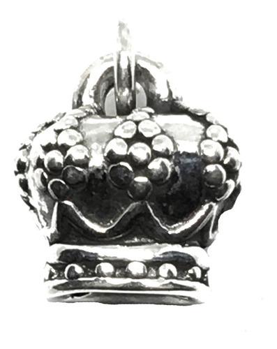 dije corona reina plata 925 17mm (arg50020)