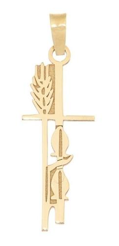 dije cruz de oro 14k cruz de trigo - fourteenkarat