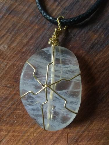 dije cuarzo cristal roca piedra natural semipreciosa