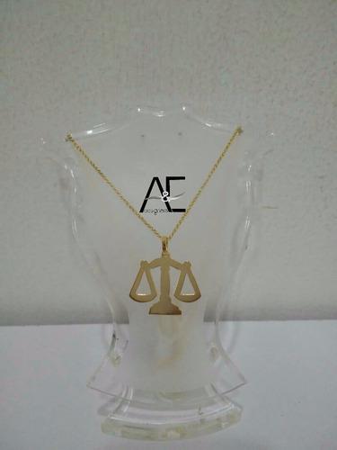 dije de abogado, derecho en oro laminado (gold field)