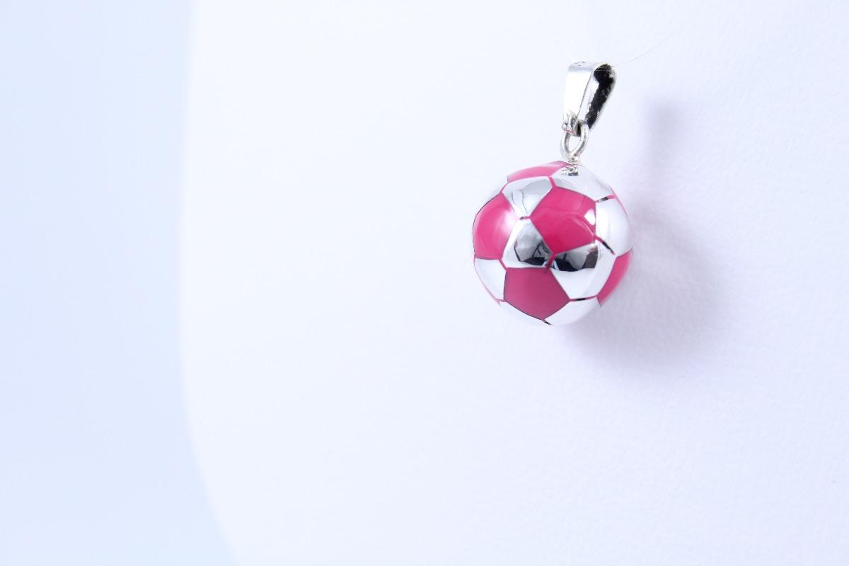 dije de balón de fútbol rosa en plata ley .925 s c joyería. Cargando zoom. 943d815a16bff
