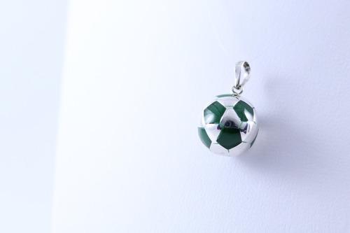Dije De Balón De Fútbol Soccer En Plata Ley .925 S c Verde ... 0d561583f7091