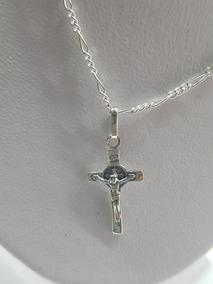 5d56f574836e Cadena Y Cruz Con Cristo En Plata .925 - Joyería en Mercado Libre México