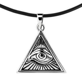 nuevo concepto 19cc3 098f5 Dije De Illuminati Collar Plata Hombre Mujer Cadena Parejas
