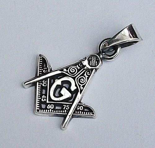 dije de mason logias simbolicas en plata sterling silver.925