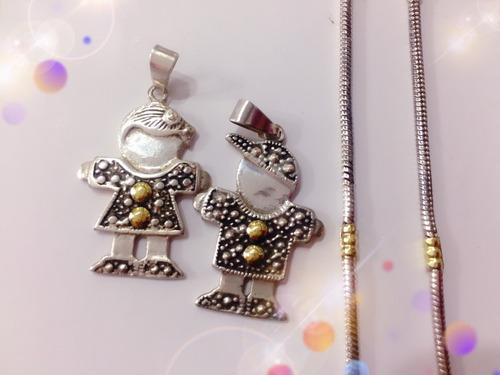 dije de nena con cadena plata y oro dia de la madre