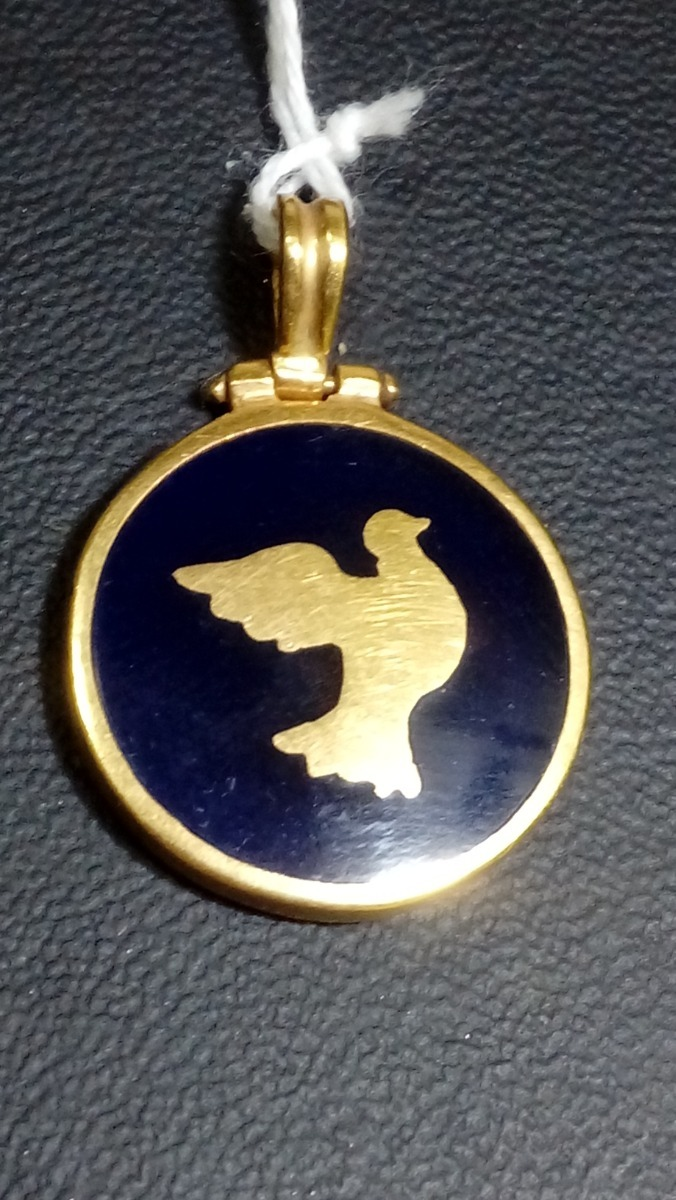 c7f7063a53e4 Dije De Oro 18k Con Piedra Paloma De La Paz -   2.000