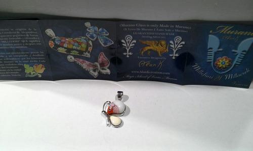 dije de plata 925 con cristal de murano by alan k