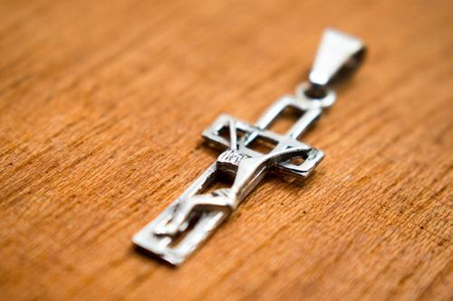 dije de plata crucifijo de cuadros cristo