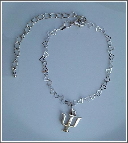 dije de psicología en plata con cadena en plata fina .925
