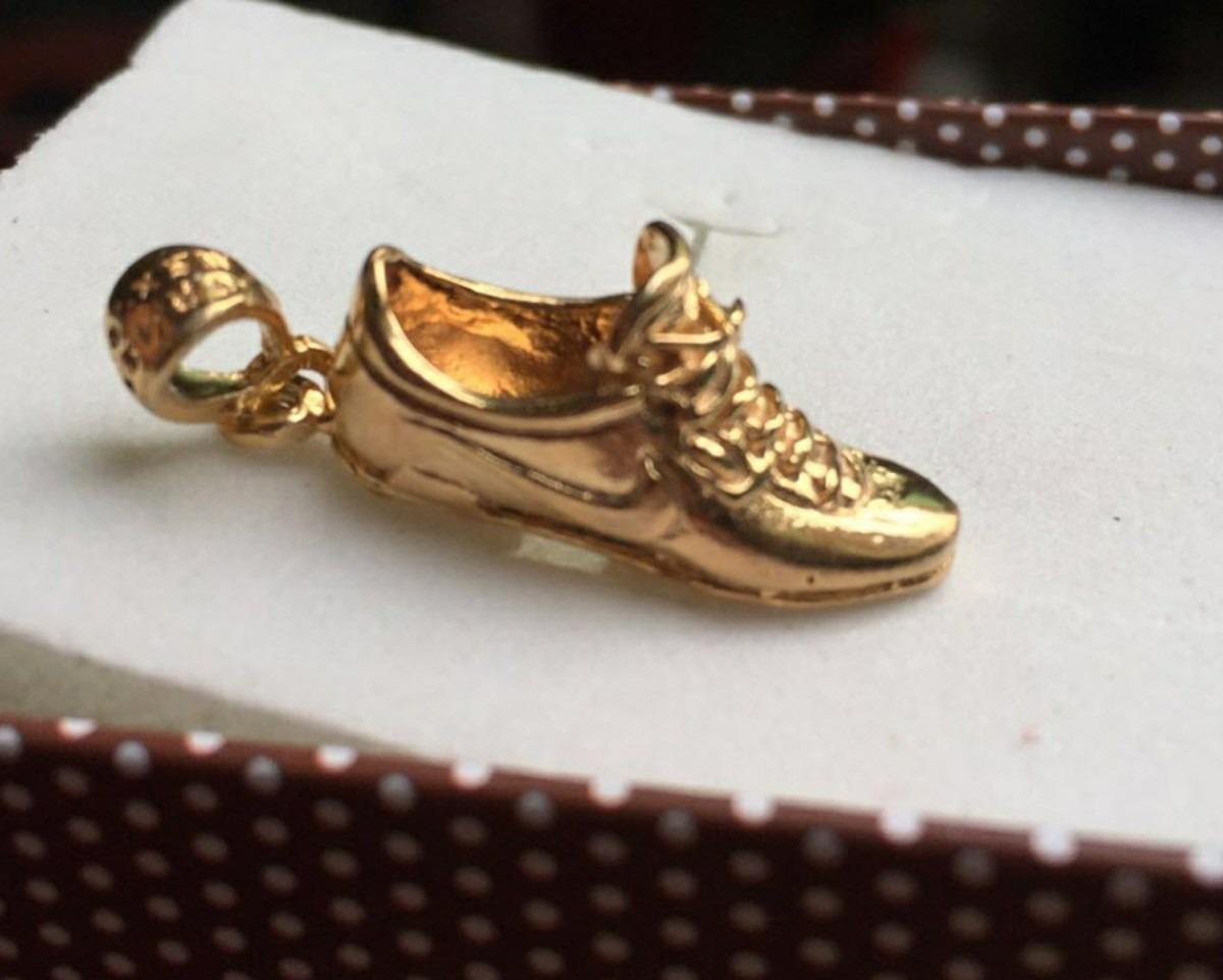 Dije de zapato de f tbol tacos con ba o de oro 18k - Bano de oro ...