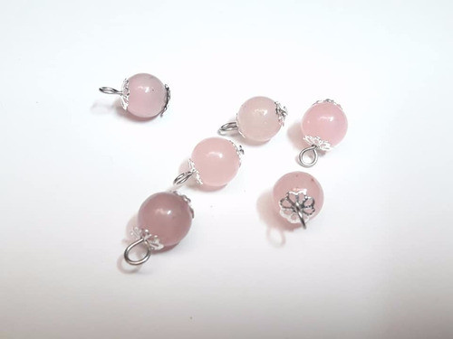 dije esfera de cuarzo rosa engarzado rincondeluz2008