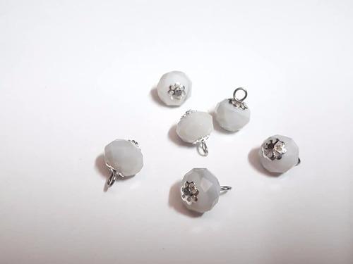 dije esfera facetada cuarzo blanco engarzado rincondeluz2008
