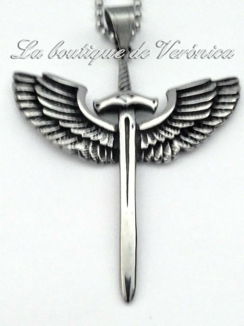 ce556c52798 dije espada san miguel arcangel grande acero inoxidable. Cargando zoom.