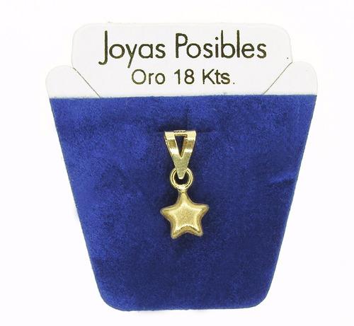0e332ddb193f Dije Estrella Satinada - Oro 18kt. - Joyas Posibles -   4.200