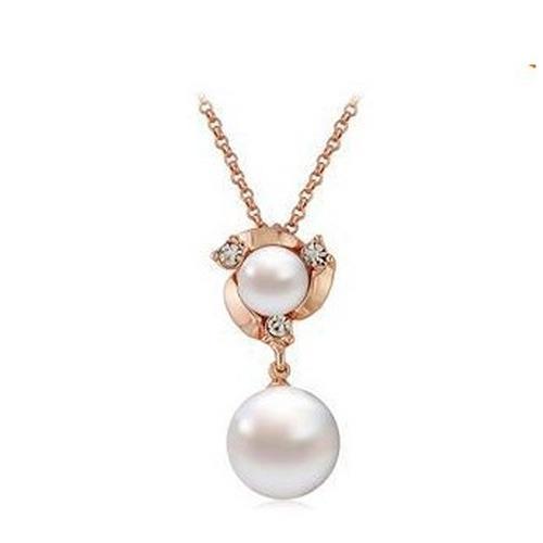dije flor de perla cristal corte swarovski elements