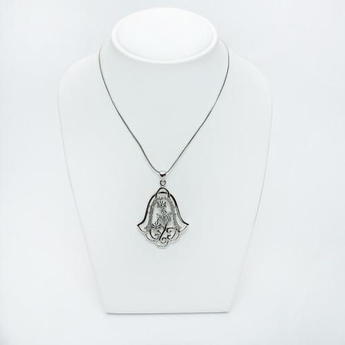 dije hamsa de plata con zirconia s/cadena guilad  ham01