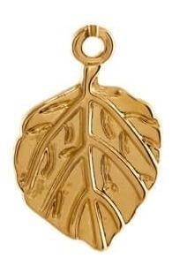 dije hoja cordada con cadena de ancla en chapa de oro 22k