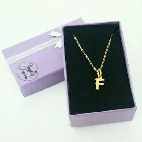 dije inicial letras cadena collar plata 950  kynaira joyeria