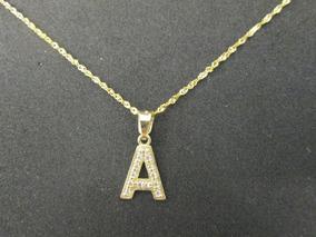 cfcdbf81e89a Dije Letras Iniciales Dama Oro Solido 10 Kilates Con Zirconi
