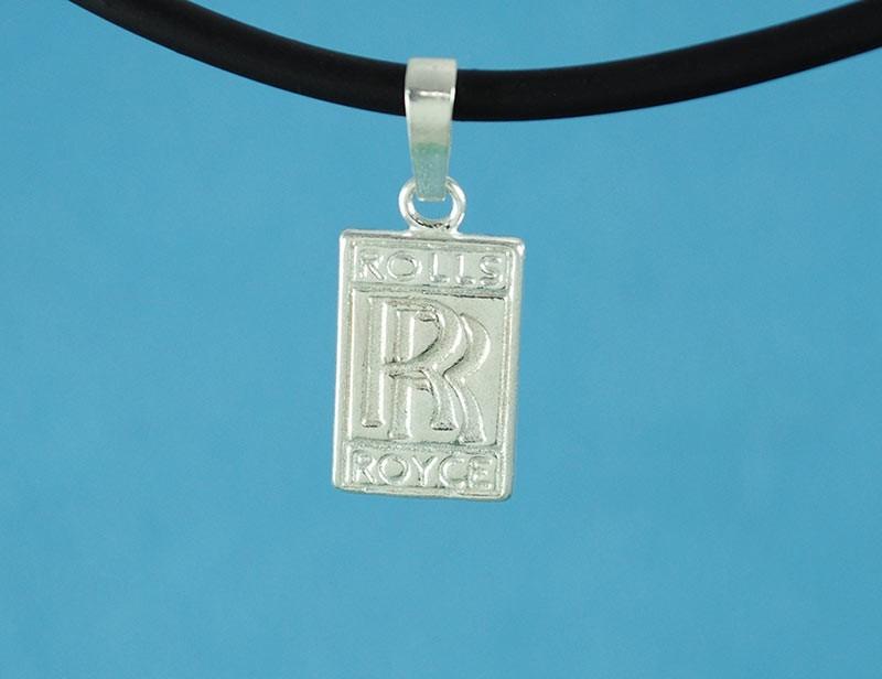 Dije logo rolls royce fina plata 925 con caucho 50 cm a45 2 cargando zoom aloadofball Choice Image