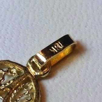 dije mano manito de fatima de  oro 18 k. garantizado 1,4 gr.