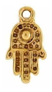 dije mano ojo fatima con cadena chapa de oro 22 k