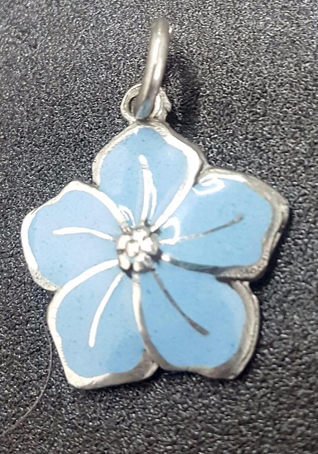 Dije Masonico Flor No Me Olvides 2 Cm En Plata 3 Gr Art 306 700