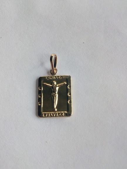 b920566745ab Dije Medalla En Placa Con Cristo Salvador Oro joya 00217 -   60.000 ...