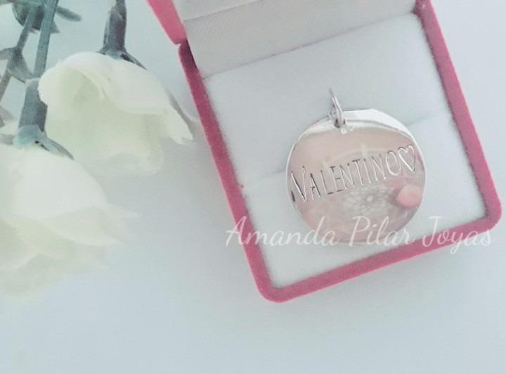 0c6a050a17d7 Dije Medalla Personalizada Con Nombre Hermoso Plata 925 -   1.400