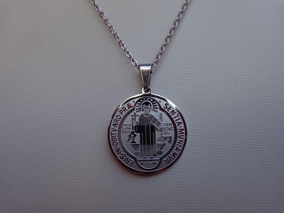 e00c30368e6 Dije Medalla San Benito De Acero Inoxidable Religion -   245.00 en ...
