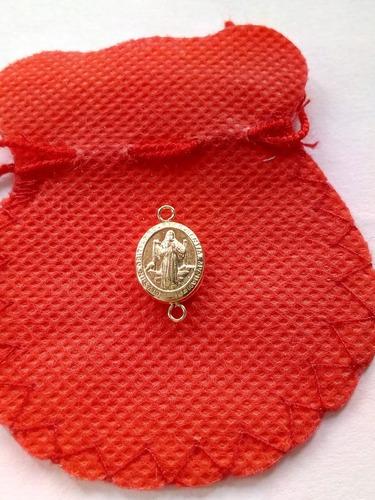dije medalla san benito oro para pulsera pqño ojitos 00154