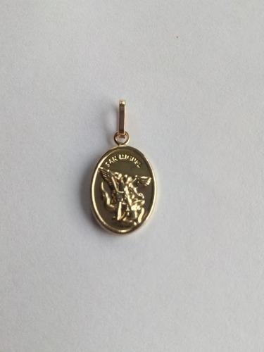 dije medalla san miguel arcangel protector oro pequeño 00221