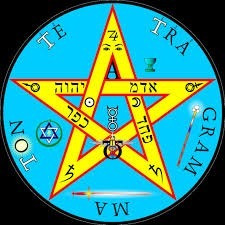 dije medalla tetragramaton pentagrama plata/oro grand 00007
