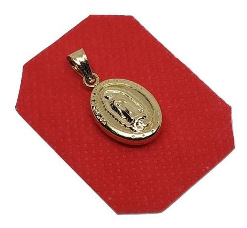 dije medalla virgen guadalupe en oro laminad joya  00081